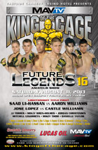 "King of the Cage Returns to Eastside Cannery in Las Vegas for ""Future Legends 16"""