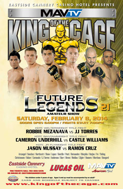 """King of the Cage Returns to Las Vegas with """"Future Legends 21"""""""