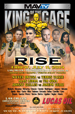 """King of the Cage Presents """"RISE"""" in Las Cruces, New Mexico on July 11th"""