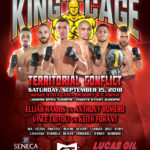 "King of the Cage Returns to Seneca Niagara Resort & Casino on September 15 for ""TERRITORIAL CONFLICT"""
