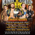 "King of the Cage Announces Main Fight Card for Citizens Business Bank Arena on December 3 for ""CONQUISTADORS"""