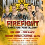 "King of the Cage Returns to Soboba Casino on June 4 for ""FIREFIGHT"""