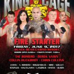 "King of the Cage Returns to Black Bear Casino Resort on June 9 for ""FIRE STARTER"""