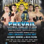 "King of the Cage Announces Main Fight Card for Seneca Niagara Resort & Casino on February 17 for ""PREVAIL"""