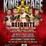 "King of the Cage Returns to the Ute Mountain Casino, Hotel & Resort on October 1 for ""REIGNITE"""