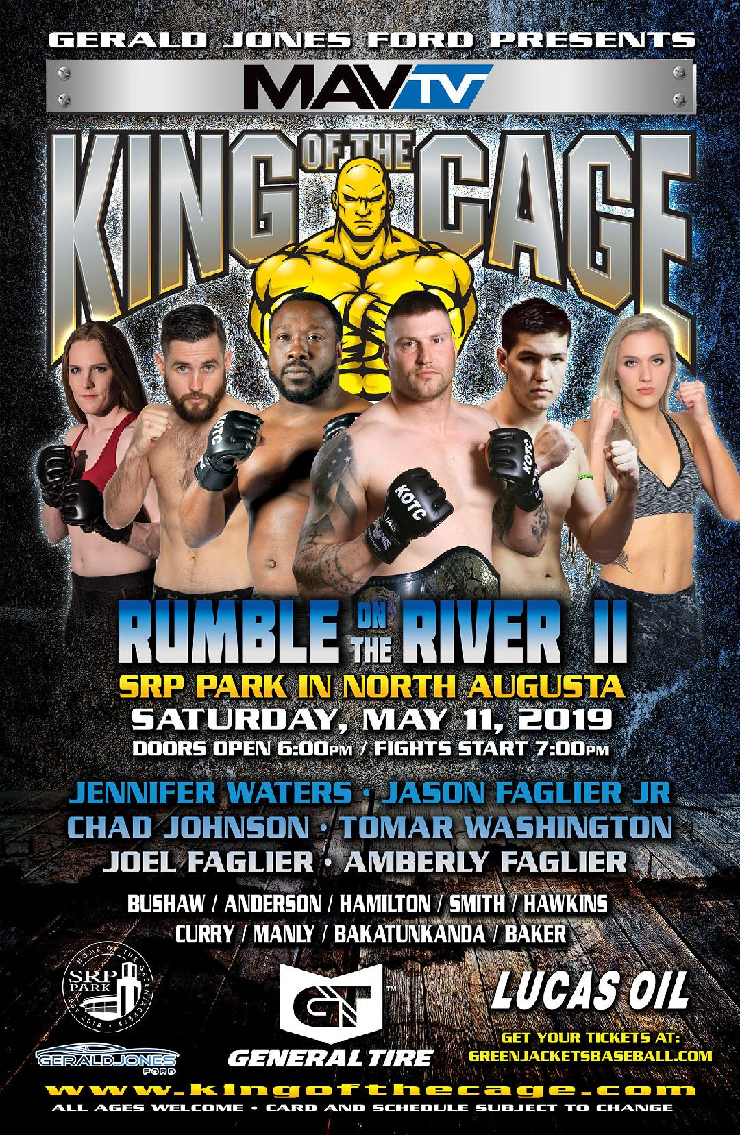"King of the Cage Debuts at SRP Park on May 11 for ""RUMBLE ON THE RIVER II"""