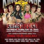 "King of the Cage Returns to Coeur D'Alene Casino Resort Hotel on February 12th for ""Short Fuse"""