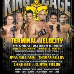 "King of the Cage Announces Main Fight Card for Gold Country Casino & Hotel October 6 ""TERMINAL VELOCITY"""