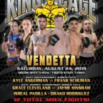"King of the Cage Announces Fighters to Headline at Tyson Events Center on August 24 for ""VENDETTA"""