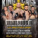 "King of the Cage Returns to the Ute Mountain Casino, Hotel & Resort on June 10 for ""WARLORDS II"""